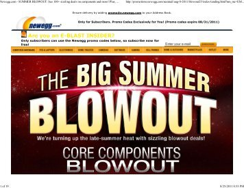Newegg.com - SUMMER BLOWOUT: See 100+ sizzling ... - FatWallet