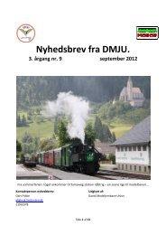 Nyhedsbrev nr.9. September 2012. - Dansk Model Jernbane Union