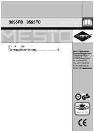 Gebrauchsanleitung - Mesto.de