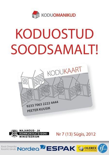 Kodukaardi kataloog SEPTEMBER 2012 - Eesti Omanike Keskliit