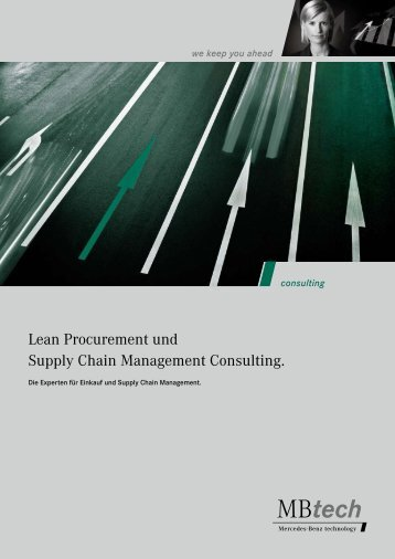 Lean Procurement und Supply Chain Management ... - MBtech Group