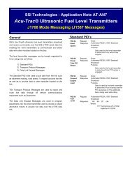 SSI Technologies - Application Note AT-AN7 Acu-Trac ... - m-buechner