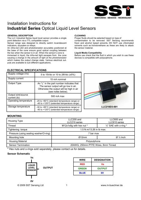 LLC Industrial Fluid Level Sensor Datasheet.pub - m-buechner on