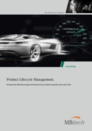 Product Lifecycle Management. - MBtech Group
