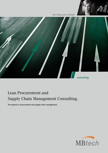 Lean Procurement and Supply Chain Management ... - MBtech Group