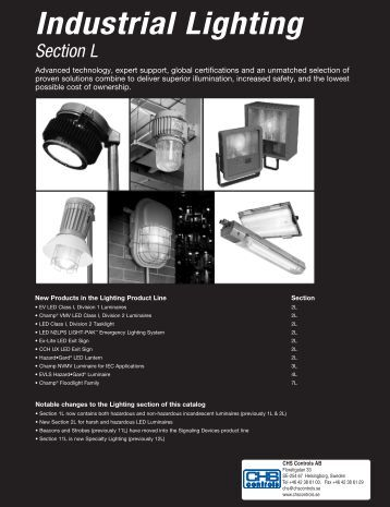 Industrial Lighting - Complete Section - CHS Controls