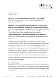 MBtech ist TOP-Arbeitgeber Automotive 2009/2010 ... - MBtech Group
