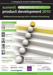 summit product development 2010 - MBtech Group
