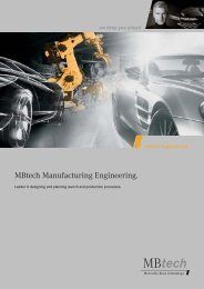 MBtech Manufacturing Engineering. - MBtech Group