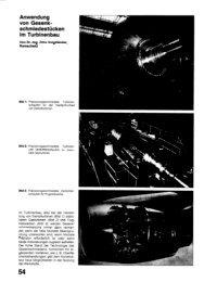 Anwendung von Gesenk- Schmiedestücken im Turbinenbau