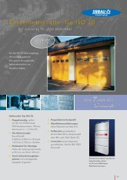 Sektionaltor ISO 20 - bei Metallbau Soeder