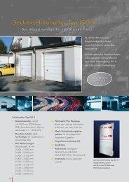 Sektionaltor ISO 9 - bei Metallbau Soeder