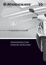 galactica 2.0 50 dd bedienungsanleitung operating ... - Kreidler