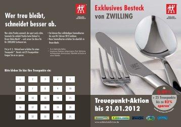 Exklusives Besteck von ZWILLING - Edeka