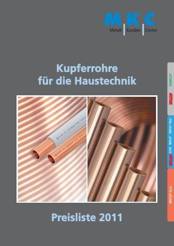 NO-Preisl. Kupferinstall. 2011 - MKC Metall - Kunden