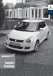 Zubehör- Preisliste - Suzuki
