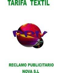 Download Price List Téxtil PDF - Reclamo Publicitario Nova