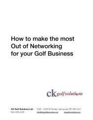 How to make the most Out of Networking for your Golf Business