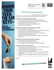Parent Teen Driving Agreement