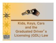 Kids, Keys, Cars and the GDL - Colorado Department of ...