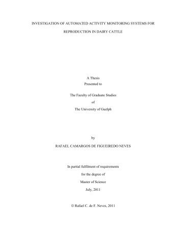 Final thesis version_Neves, 2011.pdf - University of Guelph