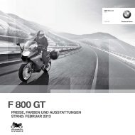 Preisliste F 800 GT - BMW Motorrad