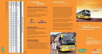 Der Urlaub beginnt im KIELIUS Airport-Bus. - Bahn