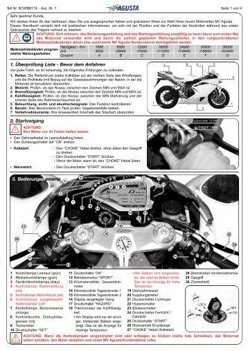 MV Agusta F4/R/RR Quick Manual - Leu Tuning GmbH
