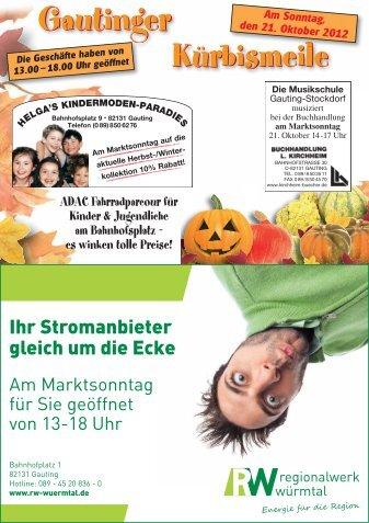 Gautinger Planegger Anzeiger vom 17.10.2012 Kollektiv Kürbismeile