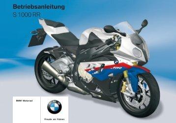 Betriebsanleitung S 1000 RR - BMW S1000RR