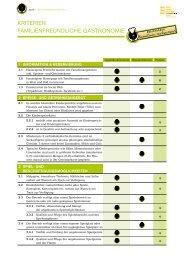 Kriterien Gastronomie Landeswettbewerb 2013 - B2B