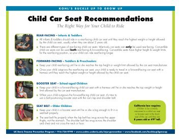 Child Car Seat Recommendations