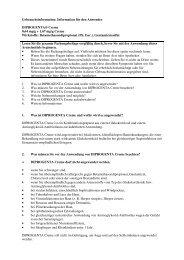 Information für den Anwender DIPROGENTA® Creme 0,64 ... - MSD