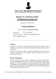 Rapport de certification public Certification de groupe FSC ... - IMO