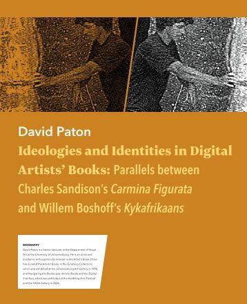 Ideologies and Identities in Digital Artists' Books: Parallels between