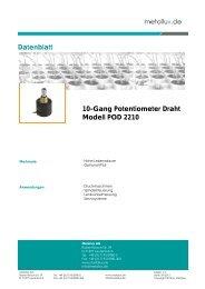 10-Gang Potentiometer Draht Modell POD 2210 ... - Metallux AG