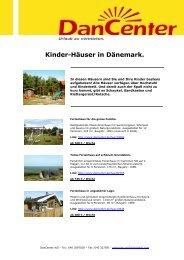 Kinder-Häuser in Dänemark. - DanCenter
