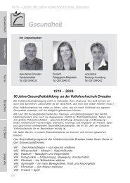 Gesundheit - Volkshochschule Dresden
