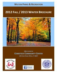 October 19, 2012 - Wilton Parks & Recreation Department