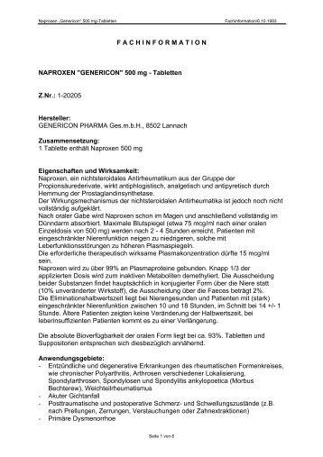 Fachinformation - Genericon Pharma GesmbH