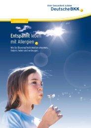 Entspannt leben mit Allergien (PDF, 0.9 MB - Deutsche BKK