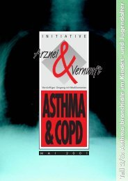 Initiative Arznei & Vernunft - Asthma & COPD im Kindes- und ...