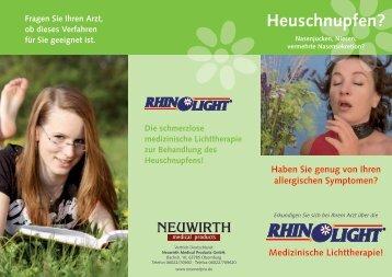 Heuschnupfen? - Neuwirth medical products