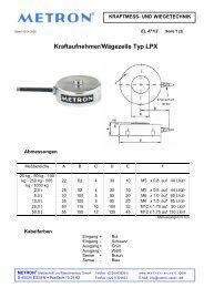 Kraftaufnehmer/Wägezelle Typ LPX - METRON Meßtechnik und ...