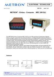 METRON® - Einbau - Computer MEC 200 D(i)