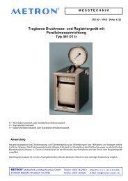 Tragbares Druckmess- und Registriergerät mit ... - METRON