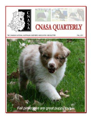 the .pdf - The Canadian National Australian Shepherd Association