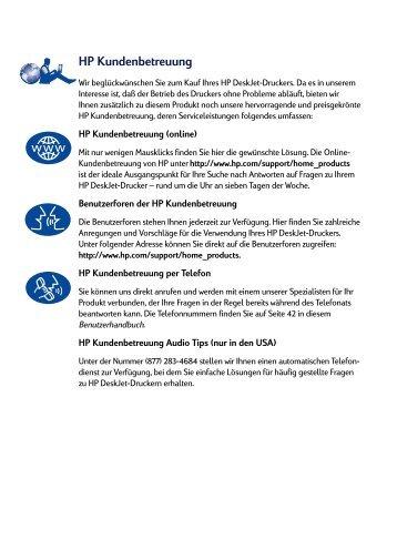 HP Kundenbetreuung