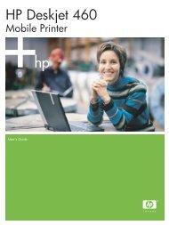 HP Deskjet 460 Mobile Printer