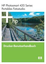 Drucker-Benutzerhandbuch HP Photosmart 420 Series Portables ...